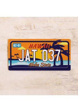Номер на американский автомобиль Гавайи
