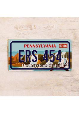 Сувенирный номер на авто Пенсильвания
