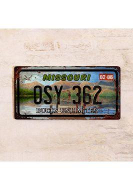 Номер на американский автомобиль Миссури