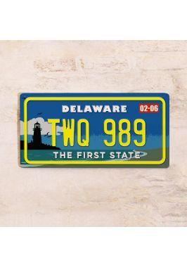 Номер на американский автомобиль Делавэр