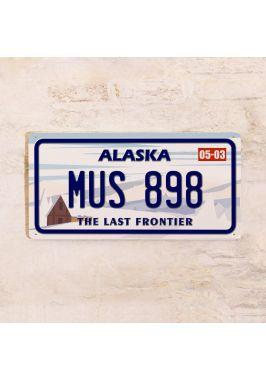 Номер на американский автомобиль Аляска