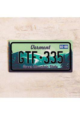 Номер на автомобиль Вермонт
