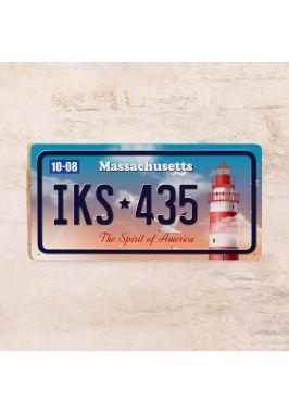 Номер на американский автомобиль Массачусетс