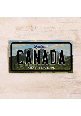 Сувенирный номер на авто Quebec Canada