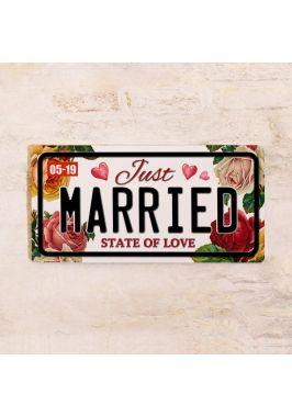 Сувенирный номер на авто Just Married