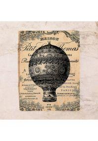 Ретро табличка Воздушный шар
