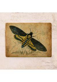 Винтажная жестяная табличка Бабочка
