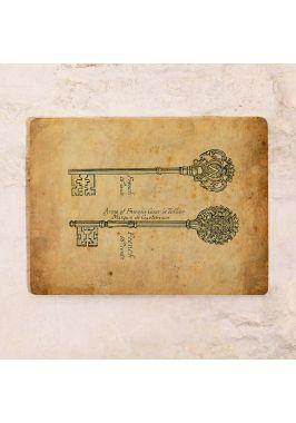 Жестяная табличка Ключи