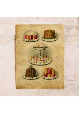 Винтажная табличка Десерты