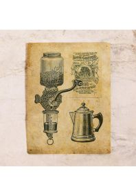 Жестяная табличка Гравюра Кофемолка