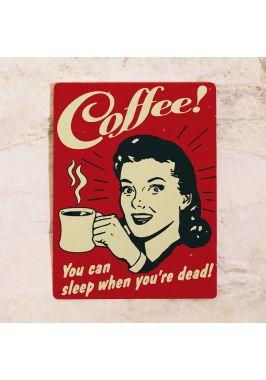 Жестяная табличка Coffee