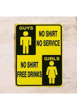 Жестяная табличка Guys and Girls