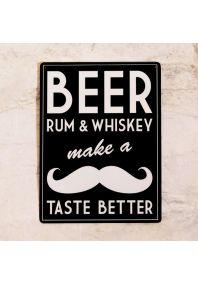 Пиво, ром, виски и усы