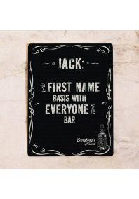 Табличка для бара Jack