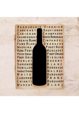 Жестяная табличка Белые вина