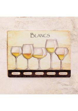 Жестяная табличка Blancs