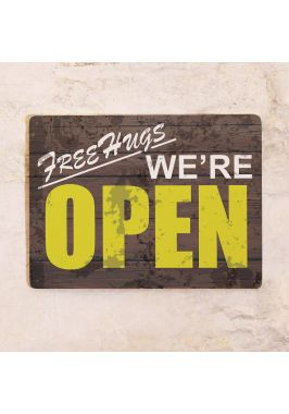 Жестяная табличка We are Open
