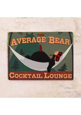 Жестяная табличка Bear
