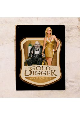 Жестяная табличка Gold digger