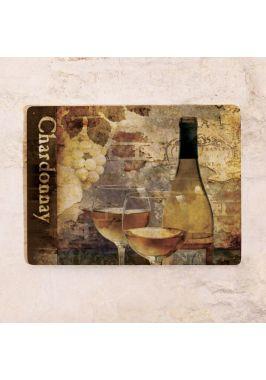 Жестяная табличка Chardonnay