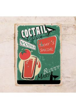 Жестяная табличка Коктейли
