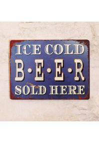 Металлическая табличка Ice cold Beer