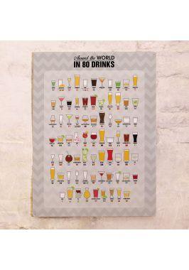 Металлический постер 80 Drinks