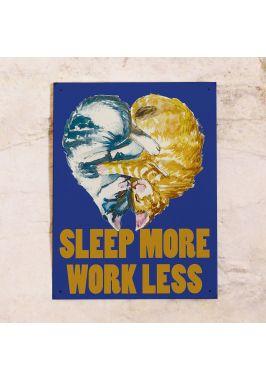 Жестяная табличка Sleep more