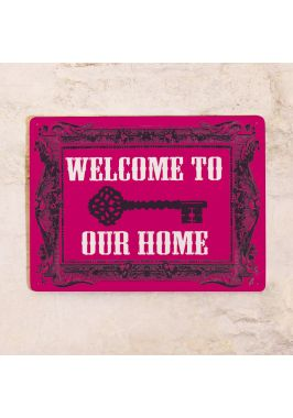 Жестяная табличка  Добро пожаловать к нам