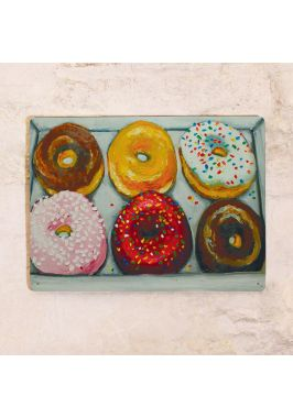 Жестяная табличка Пончики