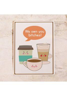 Жестяная табличка Рабы кофе