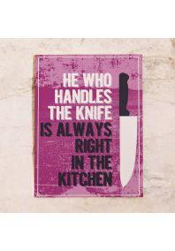У кого нож, то и главный на кухне