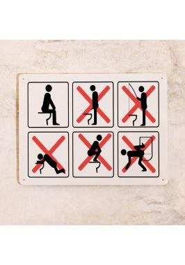 Табличка для туалета Правила туалета