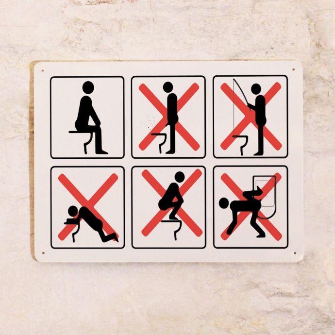Правила пользования унитазом прикольные картинки
