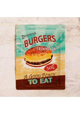 Жестяная табличка Бургер