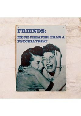 Жестяная табличка Friends