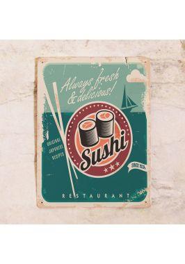 Жестяная табличка Суши