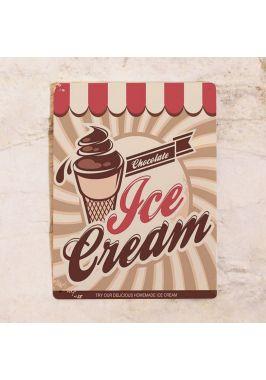 Жестяная табличка Ice cream