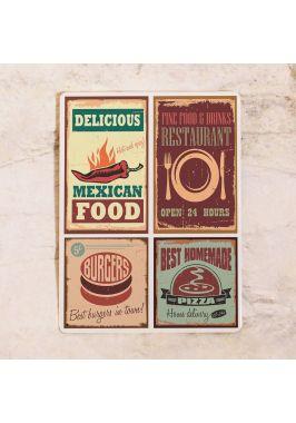 Жестяная табличка Food