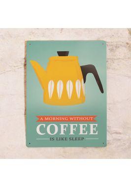 Жестяная табличка Morning coffee