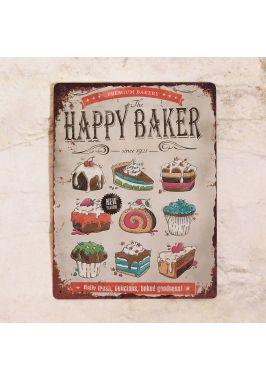 Жестяная табличка Happy baker