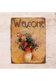 Табличка Welcome осенняя