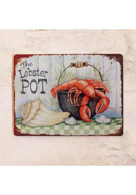 Жестяная табличка Лобстеры