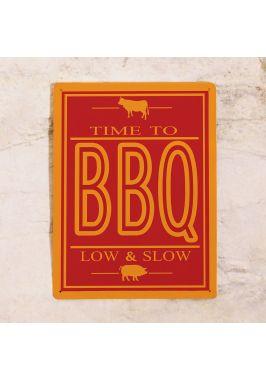 Прикольная табличка BBQ