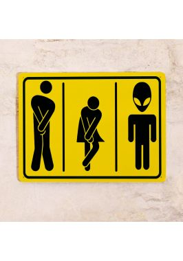Прикольная табличка для туалета -М+Ж+И
