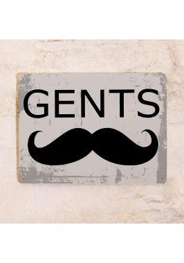 Табличка мужской туалет Gents