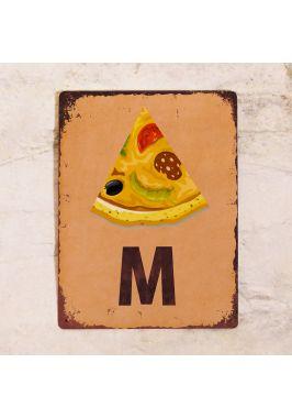 """Табличка на мужской туалет """"Пицца"""""""