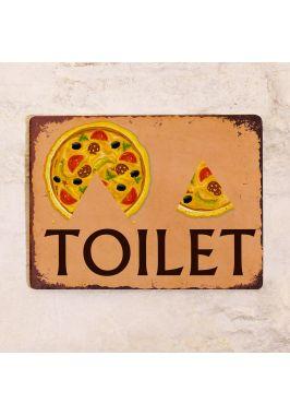"""Табличка на  туалет М+Ж """"Пицца"""""""