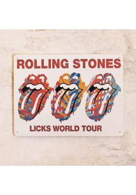 Жестяная табличка Rolling Stones
