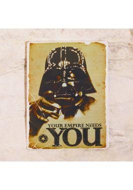 Жестяная табличка Darth Vader